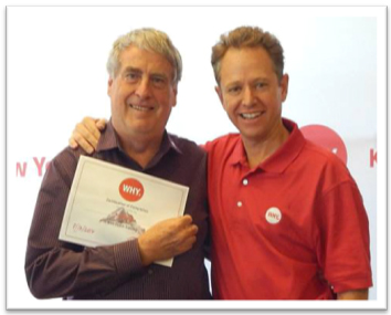 The WHY Movement Begins:  Terry with GarySanchez at WHY's first Certification Training (from WHY® Facebook)